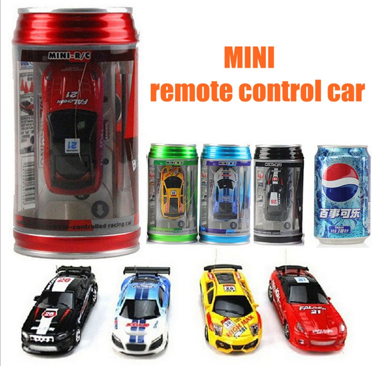 Mini Rc Car Coke Cans Remote Control Car Rc Drift Model Car