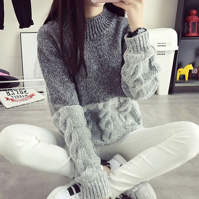 7a05fe88ca0 Cashmere Sweater Women Crewneck Pullover Ladies sweaters Shirt Hot Sale  Wool knitted sweater Female Warm Tops Sale Clothing-in Pullovers from  Women s ...