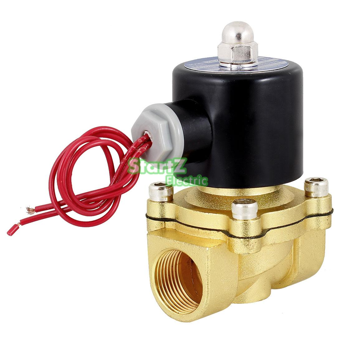 1/2 Inch Electric Air Gas Water Solenoid Valve Normally Closed DC12V DC24V AC110V AC220V 2w 025 06 2 way brass air gas water solenoid valve 1 8 bsp normal close dc12v dc24v ac110v ac220v