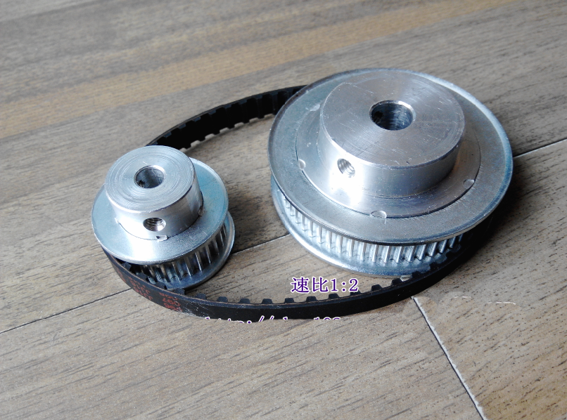 Timing belt pulleys HTD3M (2:1) 40T 20T Teeth Transmission Synchronous belt deceleration suite Engraving Machine Parts 2pcs pomegranate