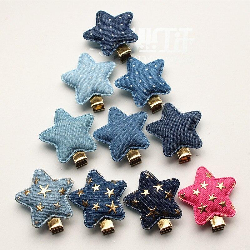 100pcs lot Cowboy Hair Accessories Star Shape Kids Hairpin with Gold Mini Stars Korean Star Shape