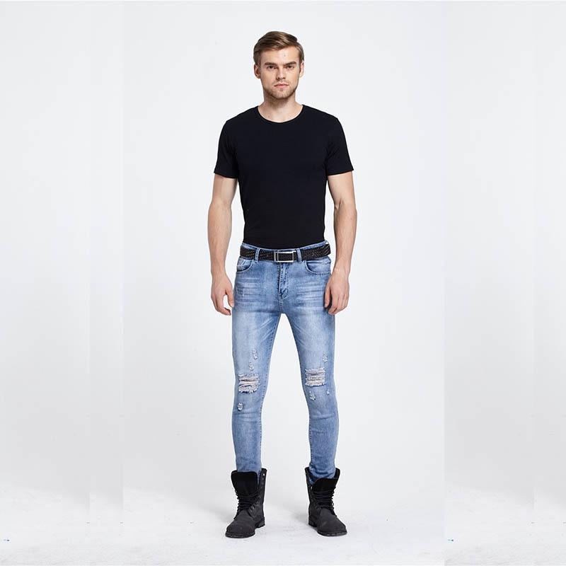 Famous Brand Spring Summer Classic Rock Men's Jeans Slim hole male jeans casual pants  rider denim jeans  stretch pants hip-hop