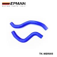 Racing Silicone turbo intercooler Radiator hose kit For MIT Lancer Evolution 9 04+(2pcs) EP-MBR005