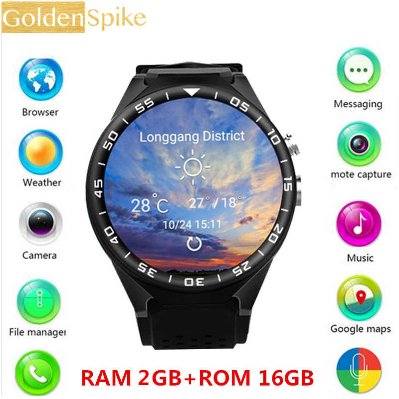 S99C Bluetooth Smart Watch with Camera 2GB RAM 16GB ROM Support SIM Card 3G WIFI GPS Smartwatch for Android IOS Phone PK KW88