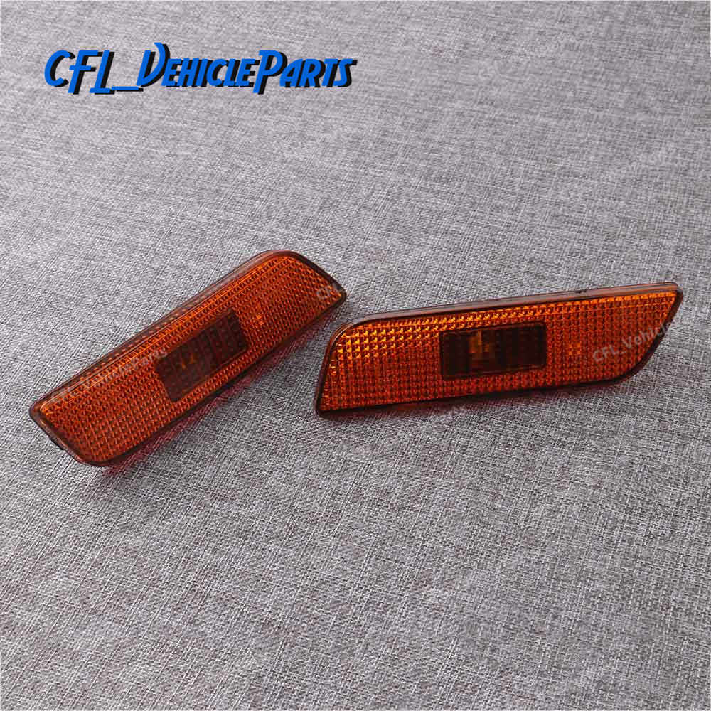 Pair Front Marker Turn Signal Indicator Lamp Light Lens Housing Left Right 30744360 30744361 For Volvo S80 2002-2006