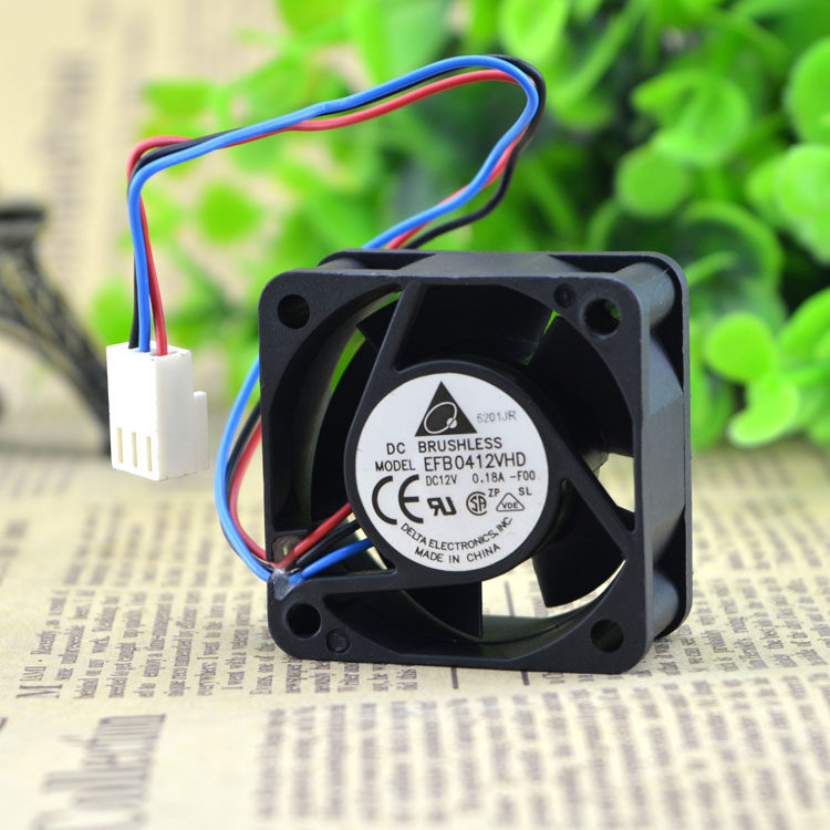 Brand new original Delta FFB0412VHN 4cm 40x40x28mm DC12V 0.24A 3 fans in one Double ball bearing Server switch cooling fan