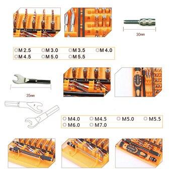 JAKEMY 52 In 1 Professionele Precisie Schroevendraaier Set Multifunctionele Hand Repair Tool Kit Voor Horloge Mobiele Telefoon PC