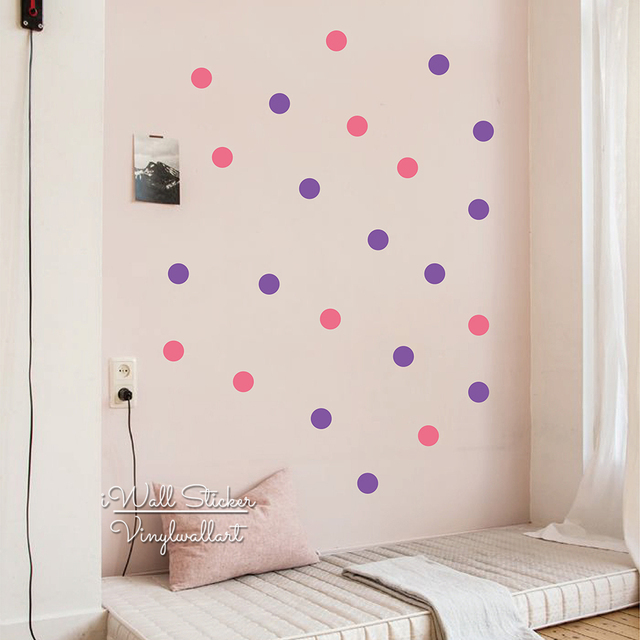 Colors Dots Wall Sticker Baby Nursery Cm Polka Dot Wall Decal - Wall decals dots