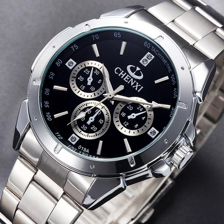 Sport Quartz Big Dial Men's Woman Luxury Business Male Watches Waterproof Military Mens Clocks Stainless Steel Band Wrist Watch