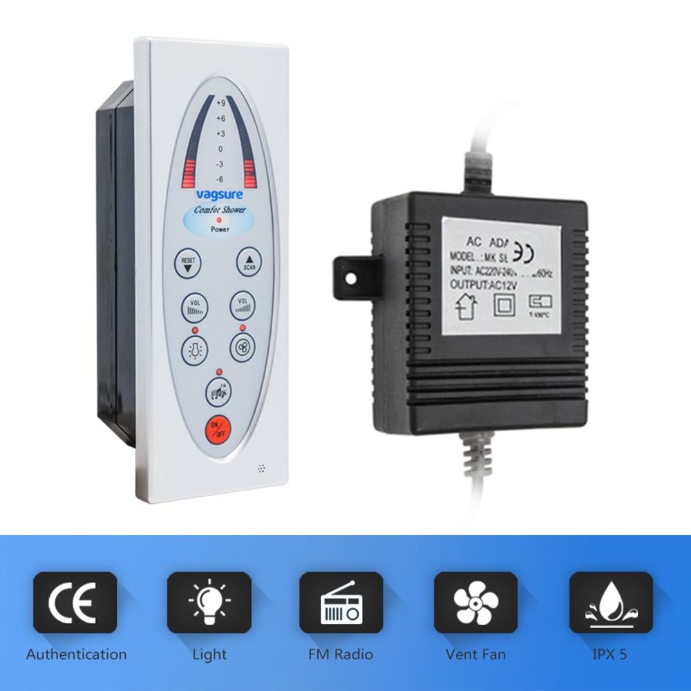 1 set Comprennent (Contrôleur + Transformateur + Vent Ventilateur + Haut-Parleur + led Lumière) système de Commande De Douche Avec Douche De Rechange Pièces