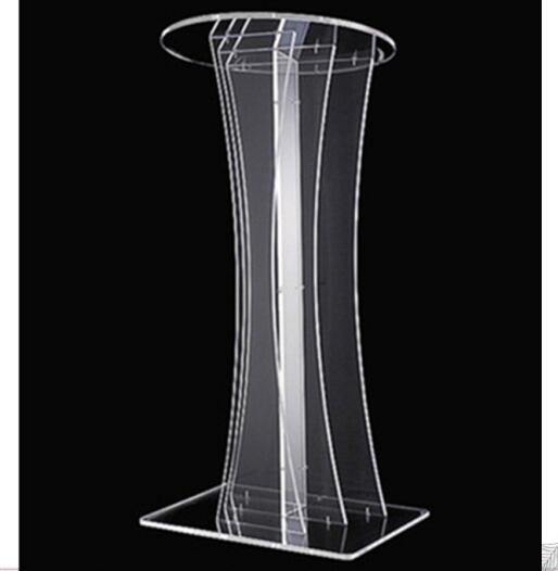 Clear Detachable Acrylic Podium Pulpit Lectern Free Shipping