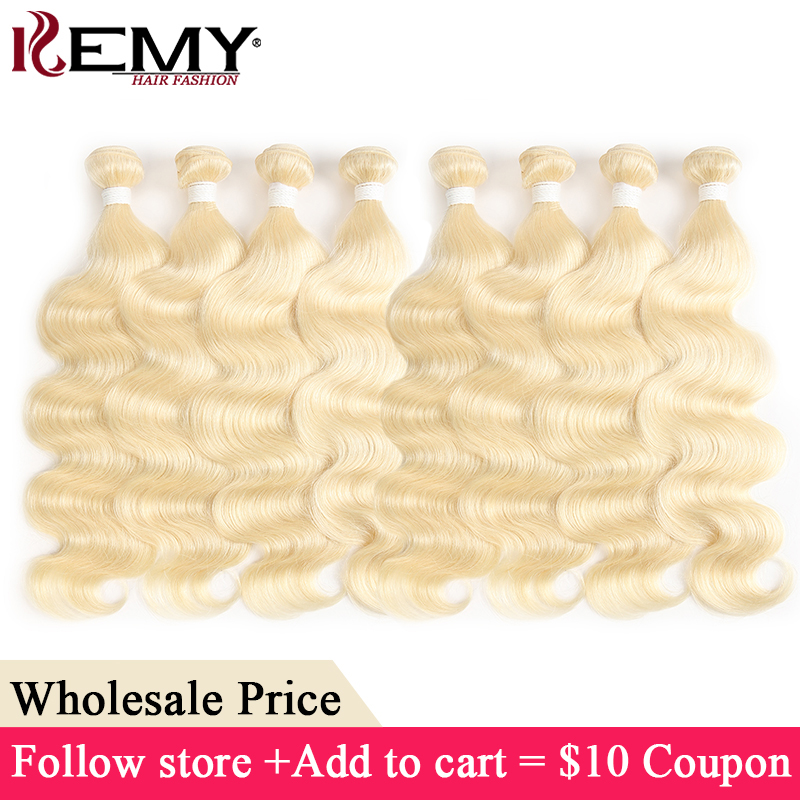 Honey Blonde Body Wave Hair Bundles KEMY HAIR 8-26 Inch Brazilian Remy Hair Extension Double Machine Weft Wholesale Price Hair(China)