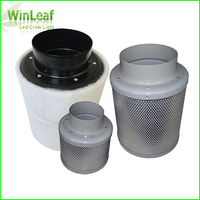Grow Tent 4inch HIGH EFFICIENT ACTIVATED CARBON AIR FILTER For Indoor Plants Tents HPS MH LED