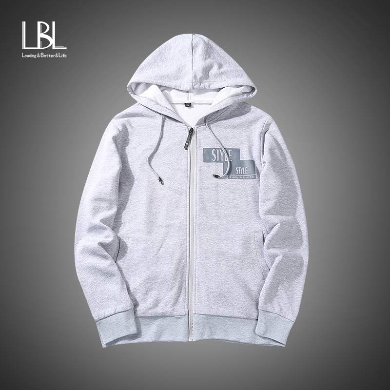 Menswear Casual Hoodies Homme 2018 New Fashion Men Cotton Hooded Sweatshirt Autumn Outerwear Brand zipper Hoodies &Sweatshirts