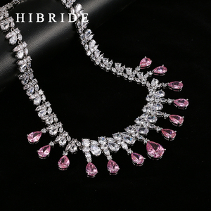 Image 5 - HIBRIDE Top Quality Tear Drop Shape AAA Cubic Zirconia Bridal Wedding Jewelry Sets,White Gold Color Jewelry Set N 59