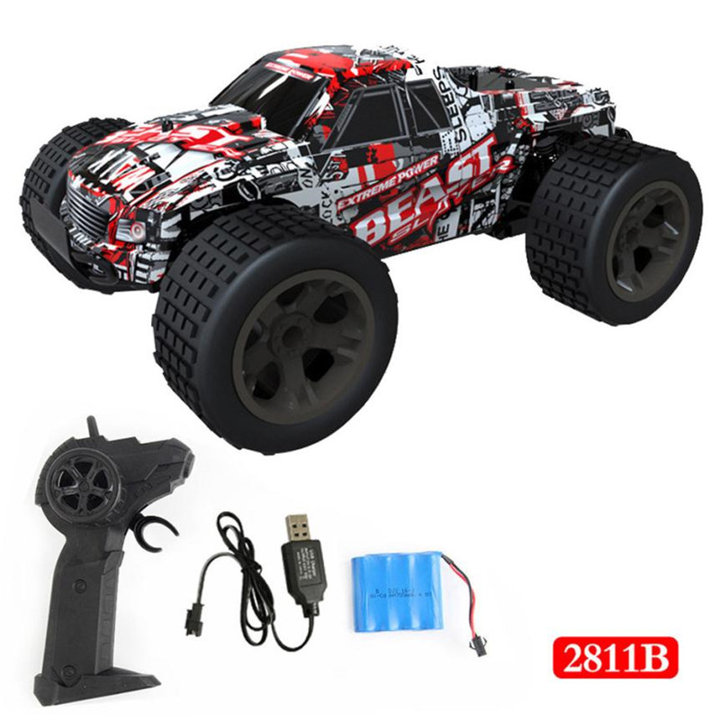 1:16 2WD Radio Controled Model Car Machine Remote Control Car 2.4G Remote Control High Speed Off-Road Buggy Toys for ChildrenM35