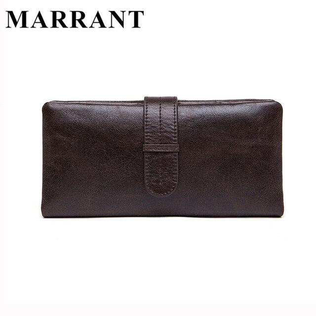 MARRANT Genuine Leather Men Wallets Leather Fashion Man Long Wallet Men's Coin Purse Male Casual Clutch Bag Hand Bag Wallet 6018