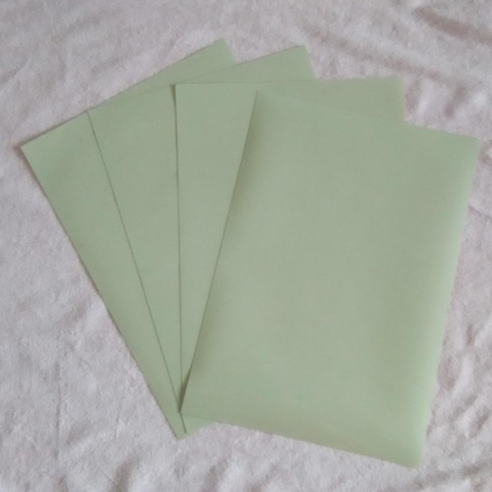 Glow In Dark PU Flex Vinyl Film  Iron On Vinyl Heat Transfer Film (A4*8 Pieces)