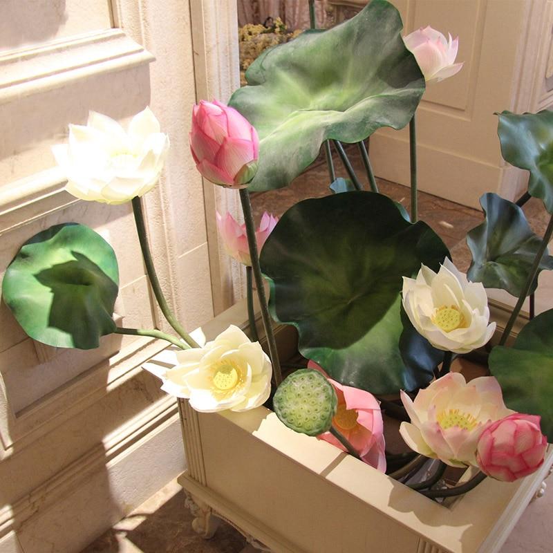95cm Length 23cm Diameter Artificial Lotus Flower With Long Stem