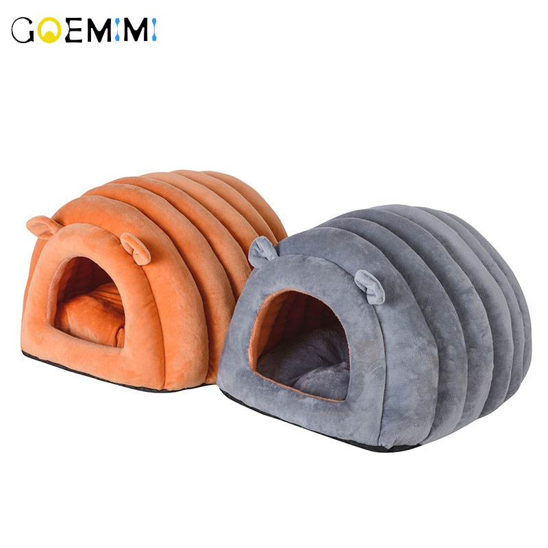 Dog House Portable Indoor Pet Bed Soft Warm and Comfortable Cat Dog Sweet Room pet house Dogs Beds With Pillow Sofa Sleeping image