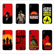 DK Red Dead Redemption 2 new phone case black cover for Samsung s8 s9plus S6 S7Edge S5 for iPhone 6 6S 7 8Splus 5S X XS XR XSMax
