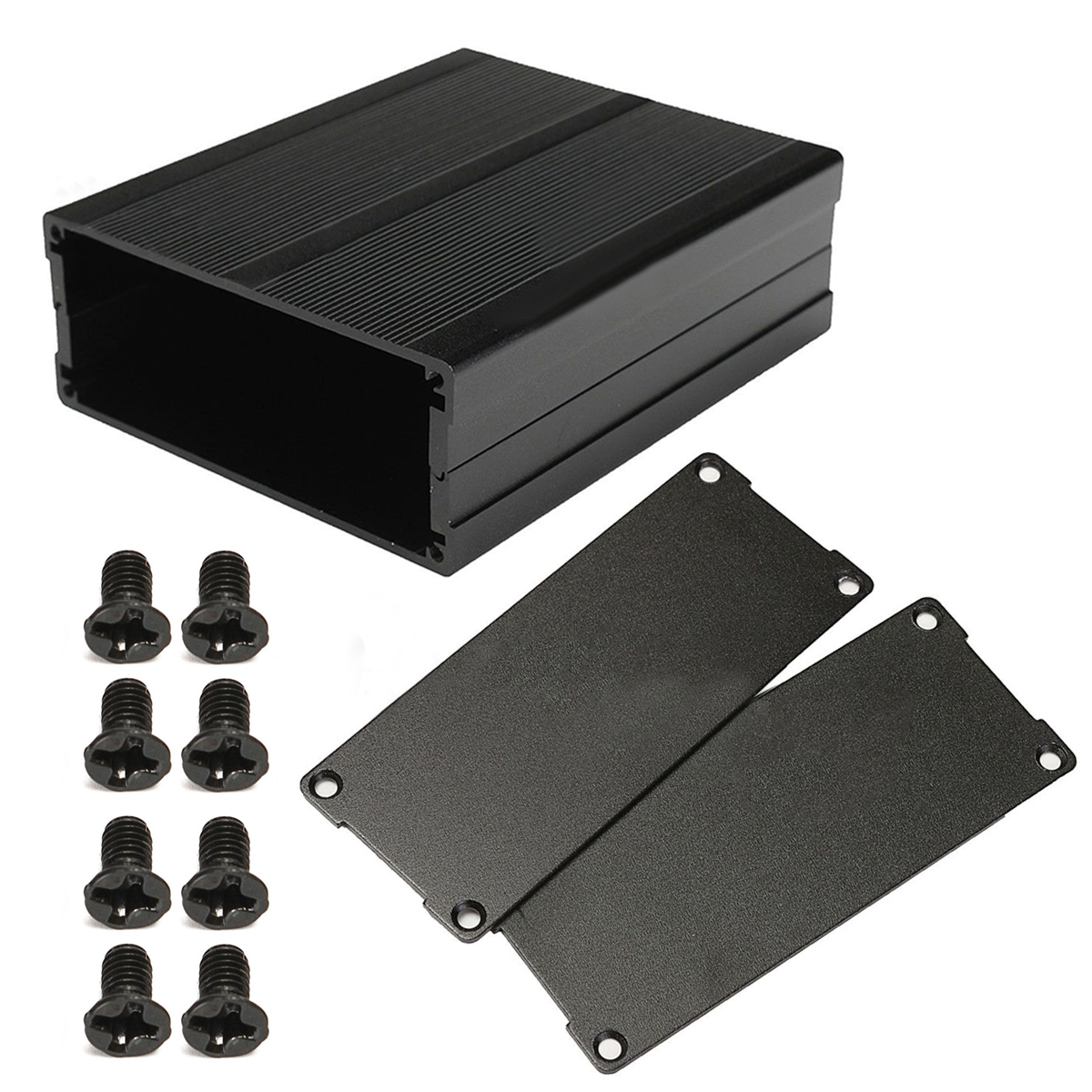 Black Split Body Mayitr Aluminum Box Enclosure DIY Instrument Case Shell for Electronic Project Amplifiers Socket 120*97*40mm 4pcs a lot diy plastic enclosure for electronic handheld led junction box abs housing control box waterproof case 238 134 50mm