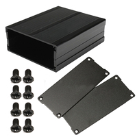 Black Split Body Mayitr Aluminum Box Enclosure DIY Instrument Case Shell For Electronic Project Amplifiers Socket