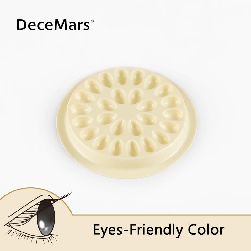 Warm Yellow 50/100pcs Disposable Eyelash Glue Holder Pallet Eyelash Extension Glue Pads Stand On Plastic Glue Holder For Eyelash
