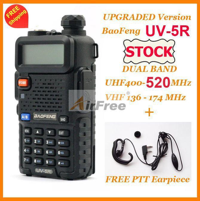 2 sets ORIGINAL BAOFENG UV 5R Dual Band Ham Radio 136 174 400 520mHZ UHF VHF