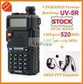 2 sets original baofeng uv-5r de banda dual de jamón de radio 136-174/400-520 mhz uhf vhf pofung uv-5r walkie talkie con free auricular
