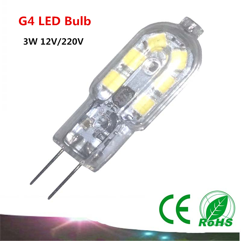1PCS G4 LED Bulb 3W SMD2835 AC220V/12V G4 LED Lamp Corn Light Chandelier Light Replace Halogen Lamp