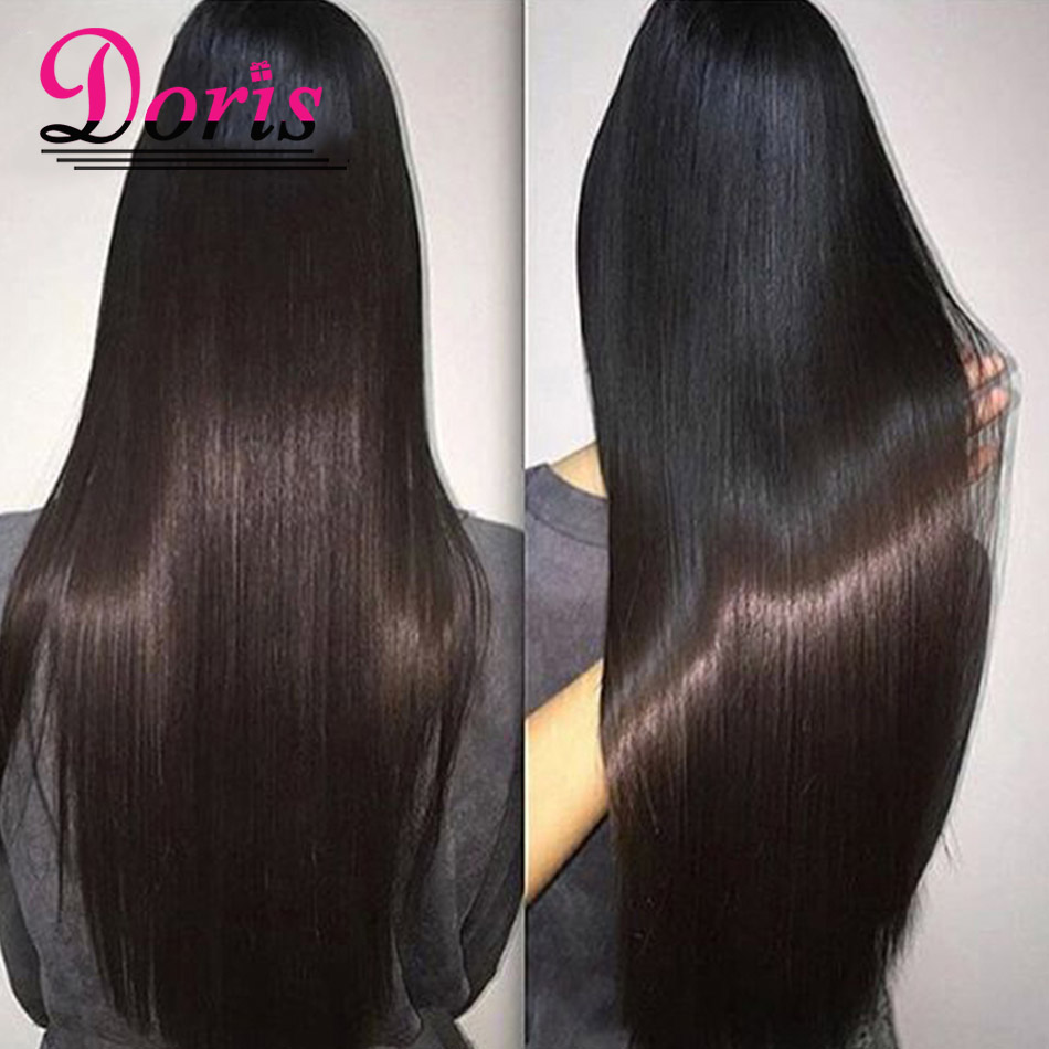 Queens Hair Products 8a Brazilian Virgin Hair Straight 4pcs Lot doris beauty hair company Dhl Overnight Remy Human Hair