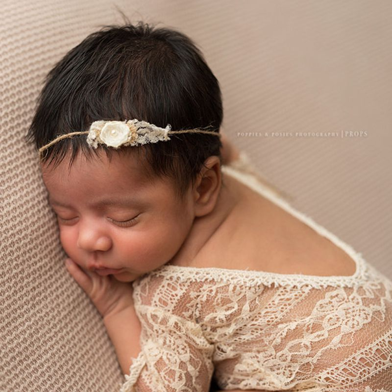 Newborn Photography Props Studio Cloths + Headbands Baby Product Photography Accessories Lace Romper Girls Outfit Baby Gift