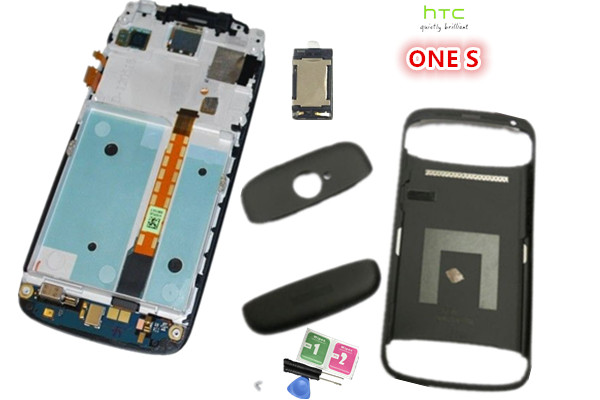 NEW Original ~ Full lcd display  touch screen digitizer +Frame +Housing Black For HTC ONE S Z520E Free shiping lcd screen display touch panel digitizer with frame for htc one m9 black or silver or gold free shipping