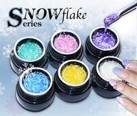 6pcs/lot Flame snowflake series colorful uv lamp Gel Nail Polish New Arrival Nail Art Varnish