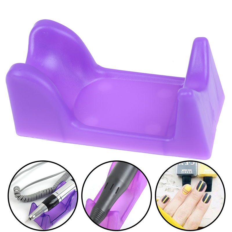 2019 Hot Sale Purple Plastic Electric Nail Craft Drill File Bit Manicure Machine Pen Holder Stand For Nails Art