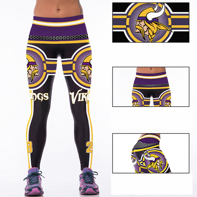 Mujer pantalones de yoga de fitness deportes de fibra de vikingos ...