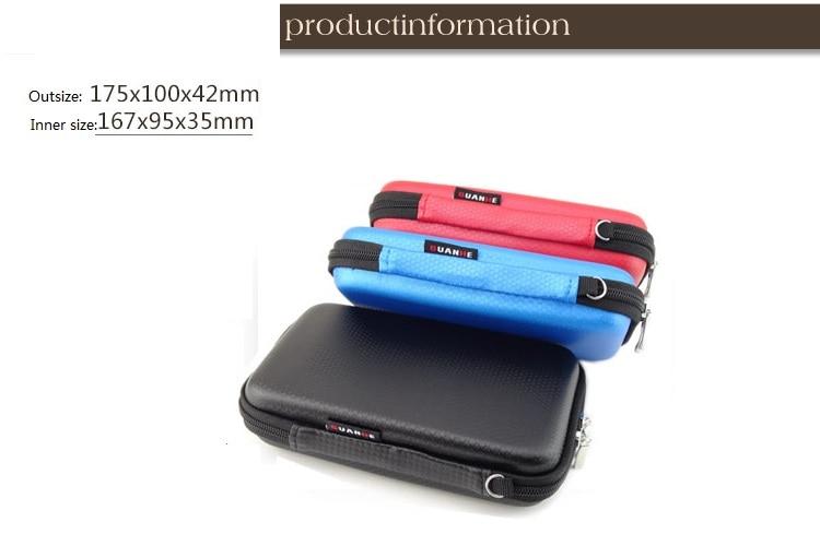 GUANHE 2,5 inch 3 kleuren grote kabel Organizer tas Draagtas HDD USB - Externe opslag - Foto 2