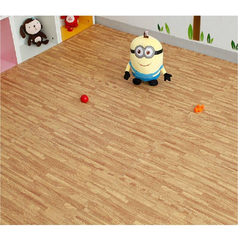9pcs 3030cmimitation Wood Foam Exercise Floor Mats Gym Garage