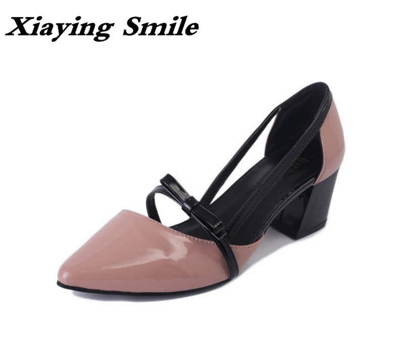 Xiaying Smile Woman Pumps Shoes Women Mary Janes Retro Spring Summer Casual Round Heels Buckle Strap Shallow Rubber Women Shoes xiaying smile summer woman sandals fashion women pumps square cover heel buckle strap fashion casual concise student women shoes