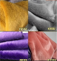 Качество Имитация меха кролика, войлочная ткань, ворс 2 см ткань искусственный мех, 17 имеющийся цвет меха текстиль, 180 см * 50 см/шт