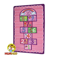 HUAHOO Numbers Printed Kids Rug For Baby Girl Living Room Bedroom Kindgarden Bedside Rug Baby Playing