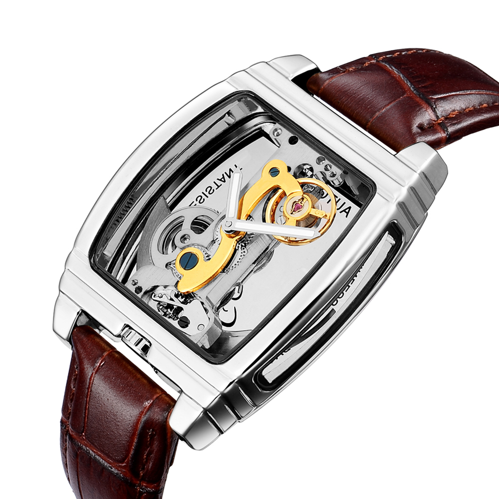 Automatic Mechanical Mens Watches Top Brand Luxury Genuine Leather Belt Transparent Skeleton Wristwatch Male Clock montre hommeAutomatic Mechanical Mens Watches Top Brand Luxury Genuine Leather Belt Transparent Skeleton Wristwatch Male Clock montre homme
