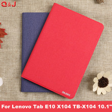 цены на Cover Coque Stand PU Leather Funda Capa Case For Lenovo Tab E10 E 10 X104 TB-X104 10.1 inch For Lenovo Tab E 10 X104 Tablet case  в интернет-магазинах