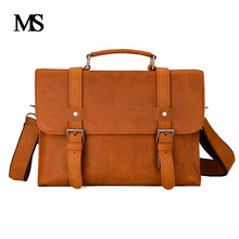 MS Crazy Horse Genuine Leather Men Bag Leather Laptop Bag Messenger Bags Shoulder Crossbody Bags Men Briefcases Handbag TW2012 цена в Москве и Питере