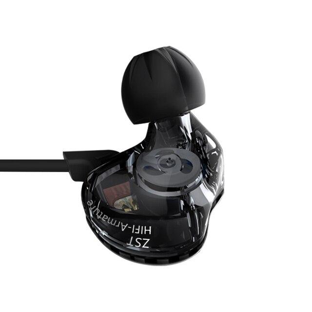 Hot KZ ZST 1DD+1BA Hybrid In Ear Earphone Bass Headset HIFI DJ Monito Running Sport Earphones Earplug Earbud fone de ouvido