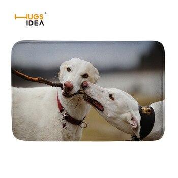 HUGSIDEA-Alfombras 3D con diseño de animales Galgo, decoración de la entrada de...