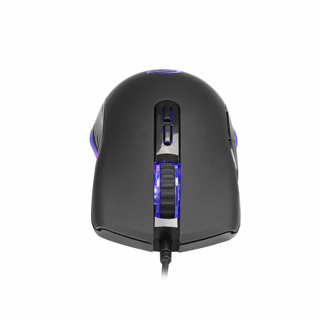 المهنية السلكية الألعاب ماوس 7 زر 3200 ديسيبل متوحد الخواص LED بصري USB الكمبيوتر ماوس ألعاب الفئران X7 لعبة الفأر الصامتة Mause ل PC