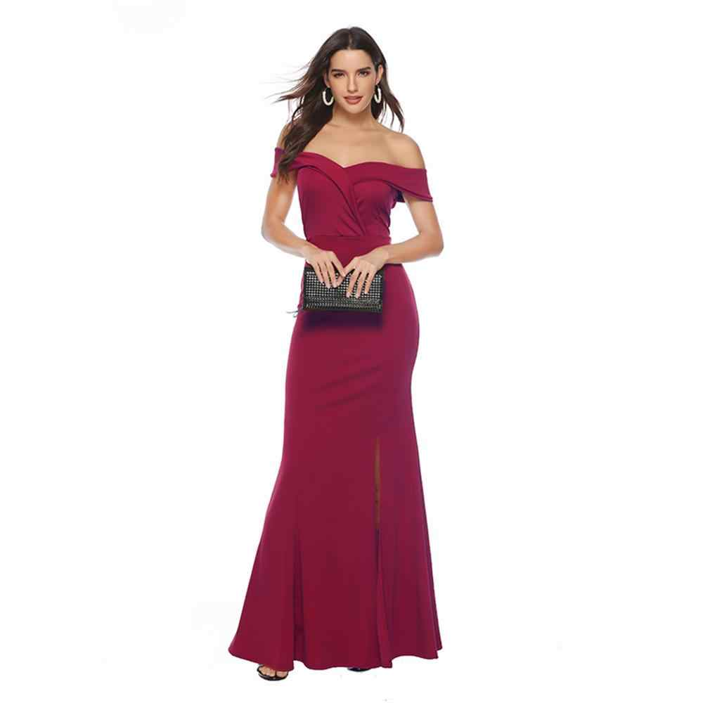 Женское длинное платье с открытыми плечами, сексуальное платье русалки с вырезом лодочкой и бусинами, облегающее платье для выпускного вечера, модные элегантные вечерние платья больших размеров с кружевом