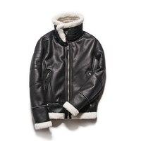 Mode herren Winter Leder Jacken Jacke Koreanische Slim Fit Mäntel Männer Moto Jacke Für Männer